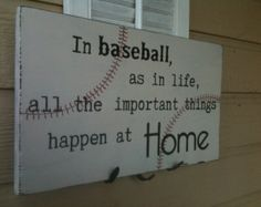 Not a baseball enthusiast. But would be a great reminder on a baseball boys wall