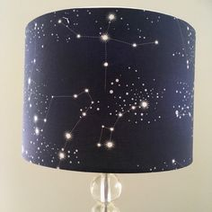 Constellations lamp shade, night sky, starry night, galaxy stars, by RooEllieStudio on Etsy https://www.etsy.com/au/listing/498813928/constellations-lamp-shade-night-sky