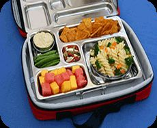 Planet Box is on my wish list for my kids.  Love this eco-friendly and easy to pack lunch box with outside pockets that fit a water bottle or thermos!