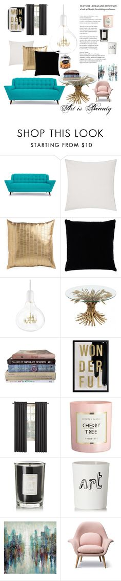 """""""Art is Beauty"""" by o-jay ❤ liked on Polyvore featuring interior, interiors, interior design, home, home decor, interior decorating, Joybird, JAG Zoeppritz, Kevin O'Brien and Oliver Gal Artist Co."""