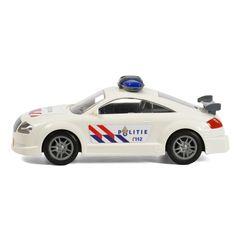 Ga de boeven achterna in deze stoere politieauto. Deze supersnelle auto van stevig kunststof heeft echte politiestickers en 4 soepele wielen. Zet de denkbeeldige sirenes aan en wees de boeven te snel af! Afmeting: poltieauto 27 x 11,5 x 11 cm - Politieauto