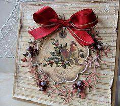 ... w karteczkowej oprawie.Wszystkie 4 powstały z kolekcji  Riddersholm Design  A Christmas Story         Okienko i gałązki wycięłam ze ślicznego śnieżnobiałego  papieru brokatowego  ze  Studio75