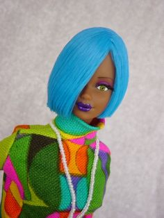 Awesome hair color! ooak barbie