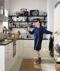 METOD / HITTARP keuken | #IKEAcatalogus #nieuw #2017 #IKEA #IKEAnl #wit #zwart #koken #diner #keuken #eten