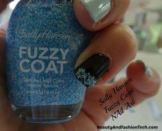 Sally Hansen Nail Art Tutorial -- I Heart My Nail Art With Fuzzy Coat Polish on Beauty and Fashion Tech.