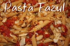 Pasta Fazul Recipe: The Object of My Distraction This is SO good!