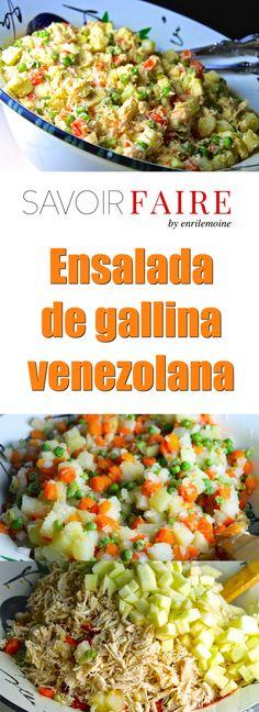 Ensalada de gallina - SAVOIR FAIRE by enrilemoine (holiday foods editorial) Venezuelan Food, Venezuelan Recipes, My Favorite Food, Favorite Recipes, Comida Latina, Appetizer Salads, Xmas Food, Caribbean Recipes, Healthy Detox