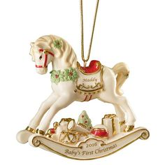 rocking horse ornament lenox christmas ornamentsbaby first christmas ornamentbabies first christmaspersonalized