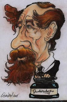 OwenJoes    ---    Caricature of Charles Dickens  1812-1870. Author of many great books, from Oliver Twist to A Christmas Carol. A true National Treasure.