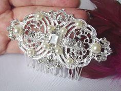 Vintage style bridal hair comb wedding by nefertitijewelry2009, $35.50
