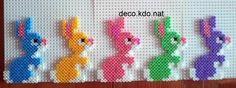Easter bunny ornaments hama perler beads by deco.kdo.nat
