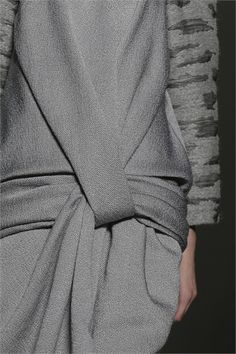 The art of wrapping... elegance in simplicity; fold, wrap & tuck - fashion details // Alexander Wang