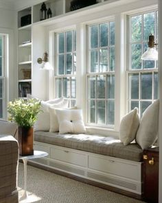 Perfect window seat design for new playroom