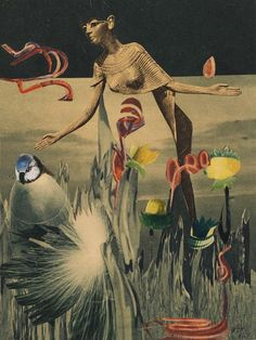 Hannah Hoch, 1940 ( dada collage) Such a big fan of Hannah - she really revolutionised the collage as a medium and created some really interesting imagery and social commentary in her work Dada Collage, Art Du Collage, Collage Artists, Mixed Media Collage, Surreal Collage, Collages, Photomontage, Hannah Hoch Collage, Hannah Höch