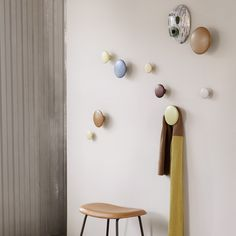 Nordicthink - The Dots extra small hanger | Muuto Coat Hooks Hallway, Diy Coat Hooks, Decorative Coat Hooks, Wooden Coat Hooks, Diy Wall Hooks, Dots Muuto, Wall Color Combination, Kitchen Wall Colors, Furniture Sale