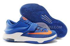 http://www.jordan2u.com/nike-kd-7-basketball-shoes-royal-bluewhiteorange.html Only$102.00 #NIKE KD 7 BASKETBALL #SHOES ROYAL BLUE/WHITE-ORANGE #Free #Shipping!