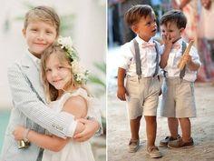 Daminha e pajens para um casamento no campo