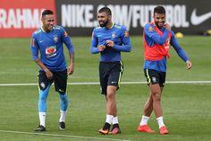Neymar é o cara, mas melhor média de gols do trio da seleção é de Jesus #globoesporte