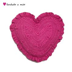 Atelier Clementtina   Almofada Coração Pink 822