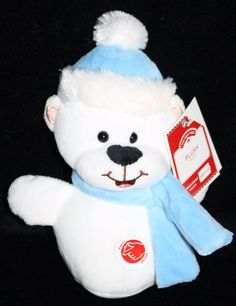 "Walmart COLD AS ICE TEDDY BEAR 7"" Blue Hat Plush Singing Soft Stuffed Animal Toy #Walmart #Christmas"