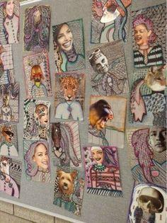 portrait collage middle school - Google Search