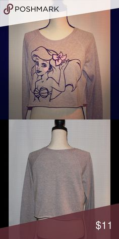Jersey Disney. Size L/ junior Beautiful jersey Disney. Size L/junior. Like New!! Color is grey and metallic pink. Disney Sweaters Cardigans
