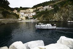 The island of Gorgona, the smallest island of the Tuscan archipelago, located 18 miles west of Livorno