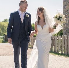 Loren Roots, with the biggest smile on her stunning wedding day – Wearing Dando London, Hatton Cross