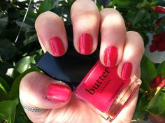 butter london - snog - a beautiful raspberry pink red & i was wearing the matching lippy lip gloss