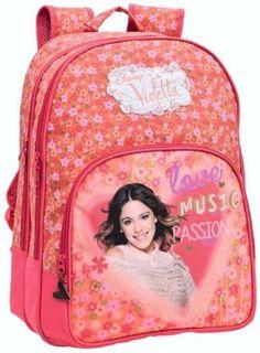Disney Violetta Music Passion Zaino Scuola Adattabile per Carrello, Zaini e Accessori Scuola e Tempo Libero Bambina - TocTocShop.com -