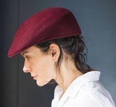 Ascot cap for men maroon wool. Joseph E Ward London Cuffley cap. Lippincott  cap vintage size 7 1 2 61. Luxury felt flat cap showerproof wool a52da560b63f