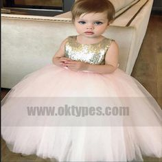 Ball gown bateau pink tulle flower girl dress with bow knot sequins ball gown gold sequin pink tulle flower girl dresses with bow typ0743 mightylinksfo