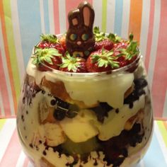 Triple Berry Easter Trifle #Recipe #Food | Erica R. Buteau