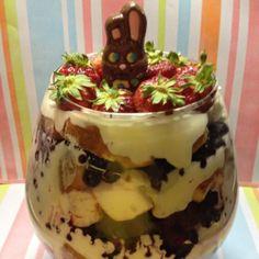 Triple Berry Easter Trifle #Recipe #Food | Erica R. Buteau