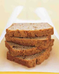 The best banana bread recipe I have ever tried, and the only one I ever use any more.  It calls for Sour Cream, and I make it with whole wheat pastry flour - it's moist and light and just perfect.