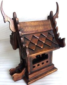 Prayer table, #buddhist, 15 inches tall #stained dark teak new item ...