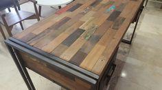 mesa trozos de madera