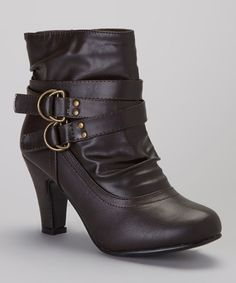 Take a look at this Charles Albert Brown River Short Ankle Boot on zulily today!