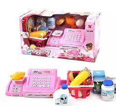 Liyin Pretend Play Electronic Cash Register Toy Realistic Actions and Sounds ** You can get additional details at the image link.