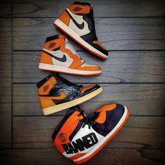Orange Basketball Shoes Outfit,Jordan Sneakers,Fashion Air Jordan 1 Shoes Air Jordan Sneakers, Sneakers For Sale, Jordans Sneakers, Air Jordans, Michael Jordan, Jordan 1, Orange Basketball Shoes, Shattered Backboard, Sneakers Fashion