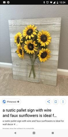Super Diy Wood Signs For Bedroom Wedding Gifts Ideas Home Projects, Home Crafts, Diy Home Decor, Craft Projects, Diy Crafts, Rustic Decor, Farmhouse Decor, Sunflower Kitchen Decor, Sunflower Bathroom