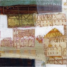 cosas diarias : — (via anne davies - gallery two) Painting Collage, Collage Art, Paintings, Collages, Contemporary Artists, Modern Art, Anne Davies, Textiles, Mixed Media Collage