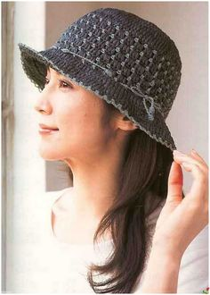 crochet hat charted, not english