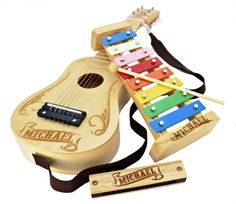 So in love with this personalized musical instrument set for kids on Etsy. What a special holiday gift.