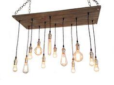 Urban Chandelier -  Industrial Lighting, 12 Pendant Edison Bulb, Hanging Light Fixture, Rustic Lighting by IndustrialLightworks on Etsy https://www.etsy.com/listing/190759972/urban-chandelier-industrial-lighting-12