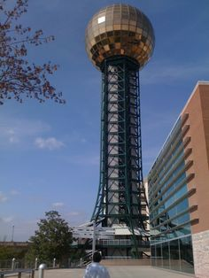Sun Sphere from the 1982 Worlds Fair in Knoxville, Tennessee. Been There!