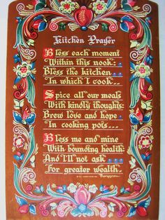 Norway / Kitchen Prayer Rosemaling