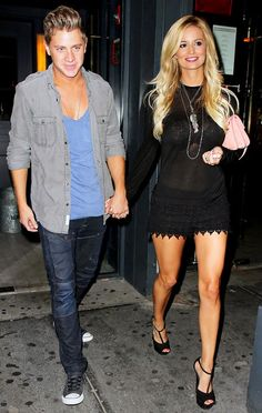 Jef Holm and Emily Maynard.  Looking super cool.