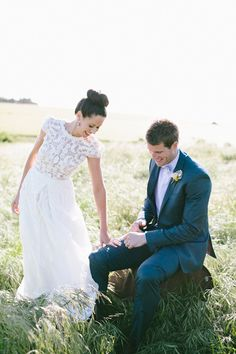 gorgeous light. photo by Love Katie + Sarah http://ruffledblog.com/bellarine-peninsula-wedding #wedding #portrait