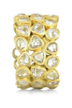 Pippa Small, gold and rock crystal eternity ring